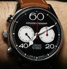 alexander shorokhoff avantgarde lefthanders automatic chronograph alexander shorokhoff avantgarde lefthanders automatic chronograph watch review wrist time reviews