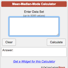 Mean Median Mode Calculator
