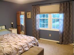 living room with bed:  stylish master bedroom window curtains my master bedroom ideas with bedroom window curtains