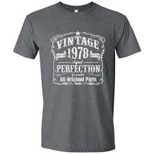 40th birthday gift for men vine 1978 aged perfection t shirt gift idea gray 1978 made in 1978 fortieth birthday gift for 40th
