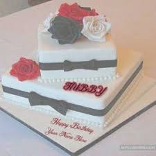 Candles Heart Birthday Cake Husband Name Birthdaycakegirlideasga