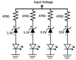 how to build a voltmeter circuit zener diodes voltmeter circuit zener diodes