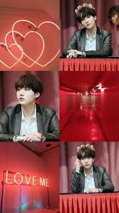 Suga Min YoonGi BTS light red aesthetic ...