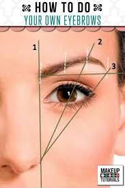 makeup tutorials how to do your own eyebrows step by step easy tutorial on