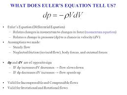 what does euler s equation tell us