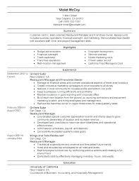 Food Manager Sample Resume Podarki Co