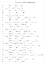 balancing chemical equation worksheet equations answer key chemistry