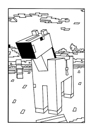Small Picture A Minecraft Horse coloring page Minecraft party Pinterest