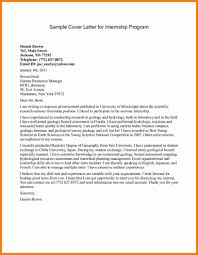 How To Write A Internship Cover Letter Sample Finance Internship