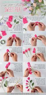 Tissue Paper Flower Tutorials Diy Crepe Paper Flower Sweet Pea Paper Flower Tutorial