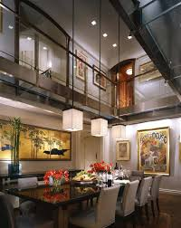 lighting for high ceilings contemporary dining room with loft pendant light high ceiling hardwood floors lighting lighting for high ceilings