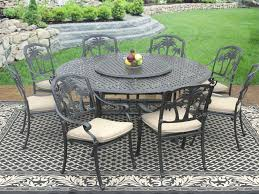 patio table lazy susan round patio table with lazy glass turntable top large set palm hampton patio table lazy susan