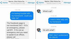 fifth grader asks police for help math homework and this was fifth grader asks police for help math homework and this was their response cbs news