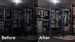 home gym lighting. Home Gym Lighting And Squatting In A Short Rack P