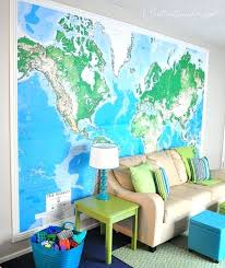 giant wall maps perfect for a playroom can you believe this giant world map wallpaper panel giant wall maps