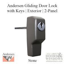 andersen window perma shield gliding door lock w keys 6 pin