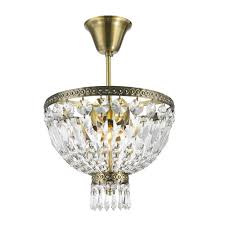 worldwide lighting metropolitan collection 1 light antique bronze and clear crystal semi flush mount