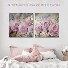 24x48 large original blush pink canvas painting gold canvas wall art blush gold decor bedroom on rose gold wall art large with 41 best original canvas paintings for sale images on pinterest
