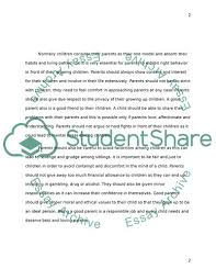 What Is A Good Parent Essay Example Topics And Well