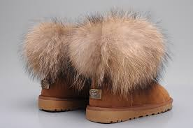 ... UGG Fox Fur Mini Boots 5854 Chestnut