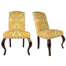Queen Ann Spring Upholstered Side Chair Set Of 2 Queen Anne Armchair I80