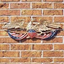 patriotic eagle outdoor wall art