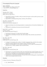 Chronological Resume Format Example Chronological Format Resume