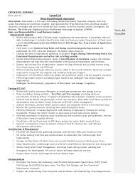 Business Analyst Resume Simple Experienced Business Analyst Resumes Canreklonecco
