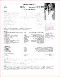 New Acting Resume Sample Npfg Online