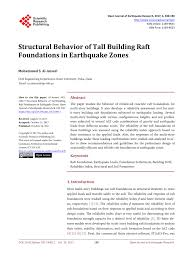 Structural Design Of Raft Foundation Ppt Pdf Structural Behavior Of Tall Building Raft Foundations