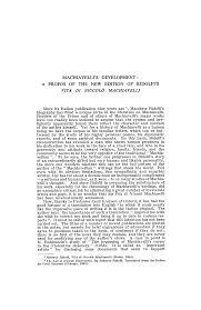 MACHIAVELLI'S DEVELOPMENT: A PROPOS OF THE NEW EDITION OF RIDOLFI'S VITA DI NICCOLÒ  MACHIAVELLI