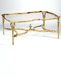 round brass coffee table cast with glass top gold traditional moroccan tray