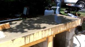 Outdoor Kitchen Countertop Outdoor Kitchen Construction Concrete Counter Form Youtube