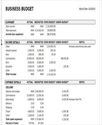 Business Budget Spreadsheet 12 Business Budget Templates In Excel Word Pdf Free