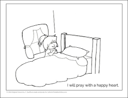 Small Picture Praying with a Happy Heart Coloring Page Printable Real Life at Home