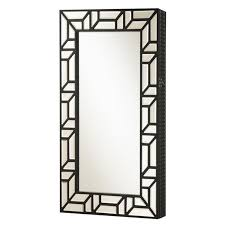 wall mount jewelry armoire mirror. Coaster Wall Mount Jewelry Armoire Mirror In Black