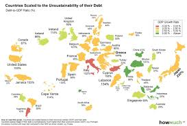 Infographic The World Map Of Debt