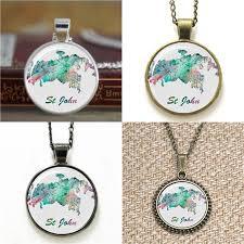 whole st john map british virgin island art print necklace keyring bookmark cufflink earring bracelet gold necklace heart necklace from diy2016