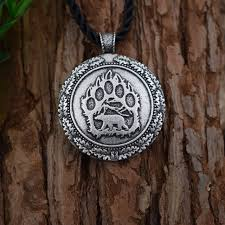 sanlan 12pcs viking bear paw necklace slavic bear pagan celt viking norse slavic wildlife animal wild