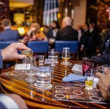 tuath glass at an irish whiskey day tasting event with irish whiskey blogger stuart mcnamara