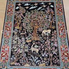 Hanging Rugs Islamic Wall Hanging Carpets Hand Knotted 2x3 Chinese Silk Rugs
