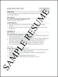 Sample Of Job Resume Basic Resumes Examples Unitus Info