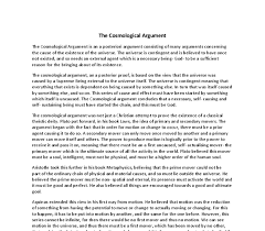 the cosmological argument a level religious studies philosophy  document image preview