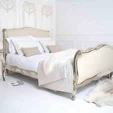 white chic bedroom furniture. White Elegant Bedroom With Wall Mounted Rectangle Wooden Gold Carved  Platform Unique Shabby Chic Bed And Beige Curved White Chic Bedroom Furniture