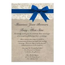 337 best burlap and lace wedding invitations images on pinterest Cheap Wedding Invitations Burlap And Lace ivory lace royal blue burlap wedding reception personalized invitations cheap wedding invitations burlap and lace