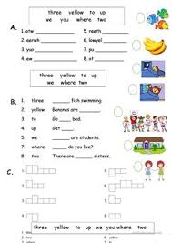 dolch primer 22 free esl sight words worksheets