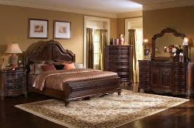 astounding picture of classy bedroom furniture decoration design ideas using light brown bedroom wall paint including curved wooden dark brown leather