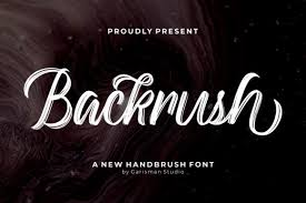 Most of the time, you will get much better results by using fonts that don't come stock with the photoshop library. Backrush Font By Garisman Studio Creative Fabrica
