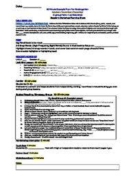 weekly schedule example kingergarten readers workshop example weekly schedule