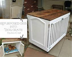 Repurposed Crib Dog Crate Idea
